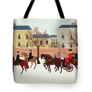 A Carriage Escorted by Police Tote Bag by Vincent Haddelsey