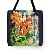 A Choir Of Poppies Tote Bag by Kathy Braud