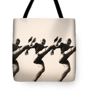 A Chorus Line Tote Bag by Bill Cannon