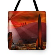 A Colony Being Established On An Alien Tote Bag by Mark Stevenson