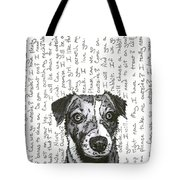 A Conversation With A Jack Russell Terrier Tote Bag by Salvadore Delvisco