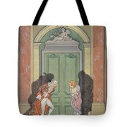A Couple In Candlelight Tote Bag by Georges Barbier