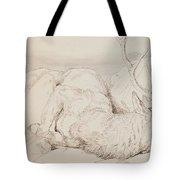 A Dead Stag Tote Bag by Sir Edwin Landseer
