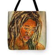 A Female Sax Player Tote Bag by Xueling Zou
