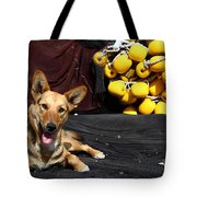 A Fishermans Best Friend Tote Bag by James Brunker