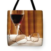A Good Book And A Glass Of Wine Tote Bag by Lucinda Walter