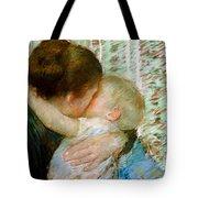 A Goodnight Hug  Tote Bag by Mary Stevenson Cassatt