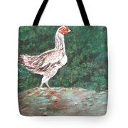 A Hen Tote Bag by Usha Shantharam