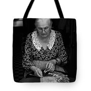 A Lacemaker In Bruges Tote Bag by RicardMN Photography