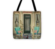 A Lazy Saturday Morning Tote Bag by Catherine Holman