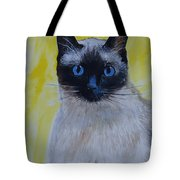 A Loving Siamese Tote Bag by Leslie Allen