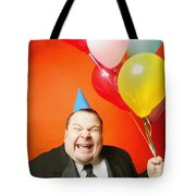 A Man With Balloons Tote Bag by Darren Greenwood