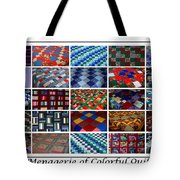 A Menagerie Of Colorful Quilts  Tote Bag by Barbara Griffin