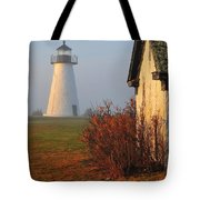 A Morning Fog Tote Bag by Catherine Reusch  Daley