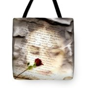 A Note And She Was Gone Tote Bag by Gun Legler
