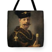 A Polish Nobleman Tote Bag by Rembrandt