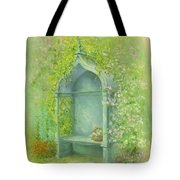 A Seat In The Garden Tote Bag by Garry Walton
