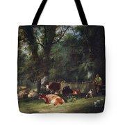 A Shady Corner Tote Bag by William Snr. Shayer
