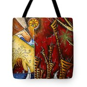 A Slice Of Paradise By Madart Tote Bag by Megan Duncanson
