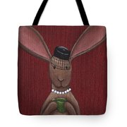 A Sophisticated Bunny Tote Bag by Christy Beckwith
