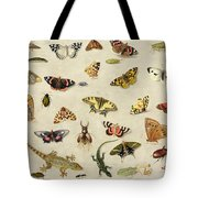 A Study Of Insects Tote Bag by Jan Van Kessel