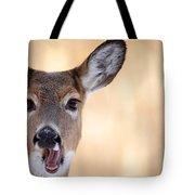 A Talking Deer Tote Bag by Karol  Livote