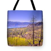 A View From Okanagan Mountain Tote Bag by Tara Turner