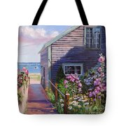 A Visit To P Town Two Tote Bag by Laura Lee Zanghetti