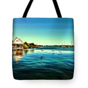 A Walk By The Riverside Tote Bag by Carlos Avila