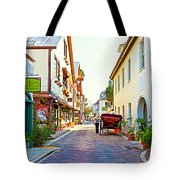 A Walk In St Augustine Tote Bag by Michelle Wiarda