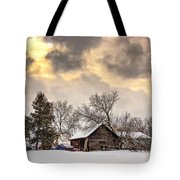 A Winter Sky Tote Bag by Steve Harrington