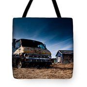 Abandoned Ford Van Tote Bag by Cale Best