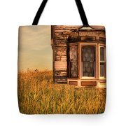 Abandoned House In Grass Tote Bag by Jill Battaglia