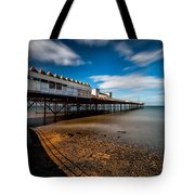 Abandoned Pier Tote Bag by Adrian Evans