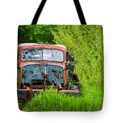 Abandoned Truck In Rural Michigan Tote Bag by Adam Romanowicz