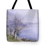 Above Montreux Tote Bag by John William Inchbold