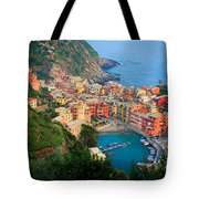 Above Vernazza Tote Bag by Inge Johnsson