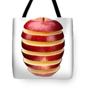 Abstract Apple Slices Tote Bag by Johan Swanepoel