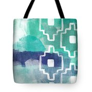 Abstract Aztec- Contemporary Abstract Painting Tote Bag by Linda Woods