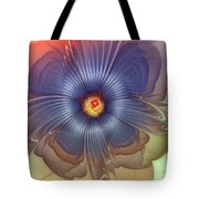 Abstract Blue Flower In Sunday Dress Tote Bag by Karin Kuhlmann