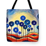 Abstract Blue Symphony  Tote Bag by Ramona Matei