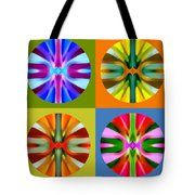 Abstract Circles And Squares 1 Tote Bag by Amy Vangsgard