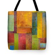 Abstract Color Study Collage L Tote Bag by Michelle Calkins