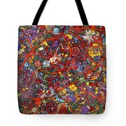 Abstract - Fabric Paint - Sanity Tote Bag by Mike Savad