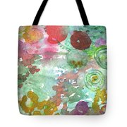 Abstract Garden Tote Bag by Linda Woods