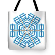 Abstract Hexagonal Shape Tote Bag by Jozef Jankola