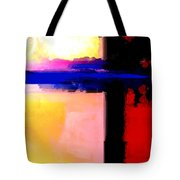 Abstract Impressions Of A Blue Horizon Tote Bag by Karon Melillo DeVega