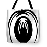 Abstract Jellyfish Black And White Digital Painting Tote Bag by Georgeta Blanaru