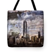 Abstract Manhattan Skyline Tote Bag by Dan Sproul