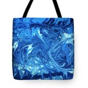 Abstract - Nail Polish - Ocean Deep Tote Bag by Mike Savad